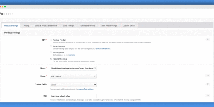 Reseller Hosting CPanel Integration Plugin For Invision Power Board